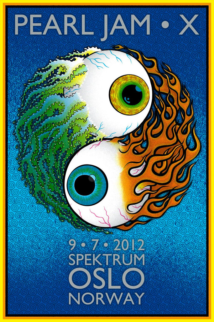 Chuck Sperry - Pearl Jam, Oslo, Norway, 2012 (Artist Edition)