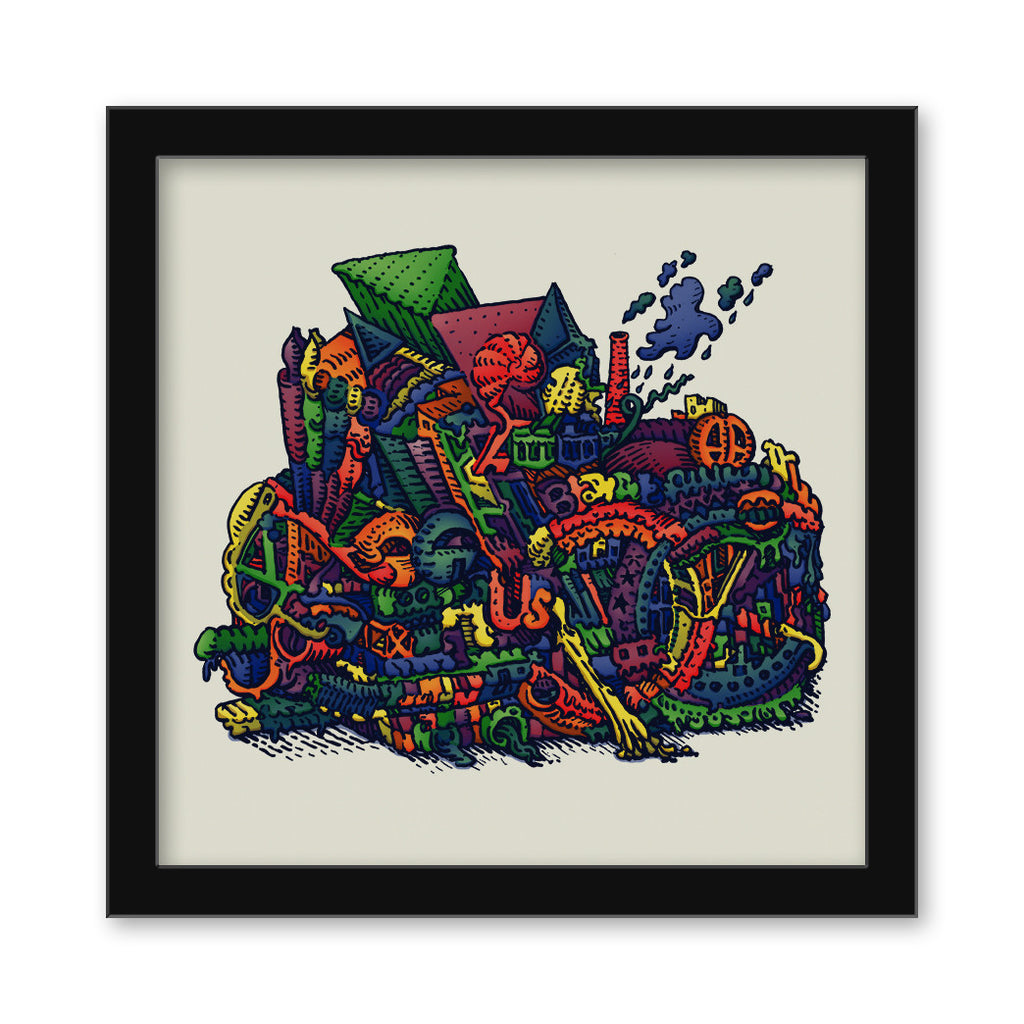 "David Welker - ""Recycle Bin"" print"