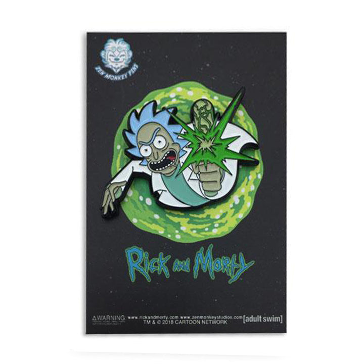 Point Blank! - Rick And Morty Enamel Pin - Spoke Art