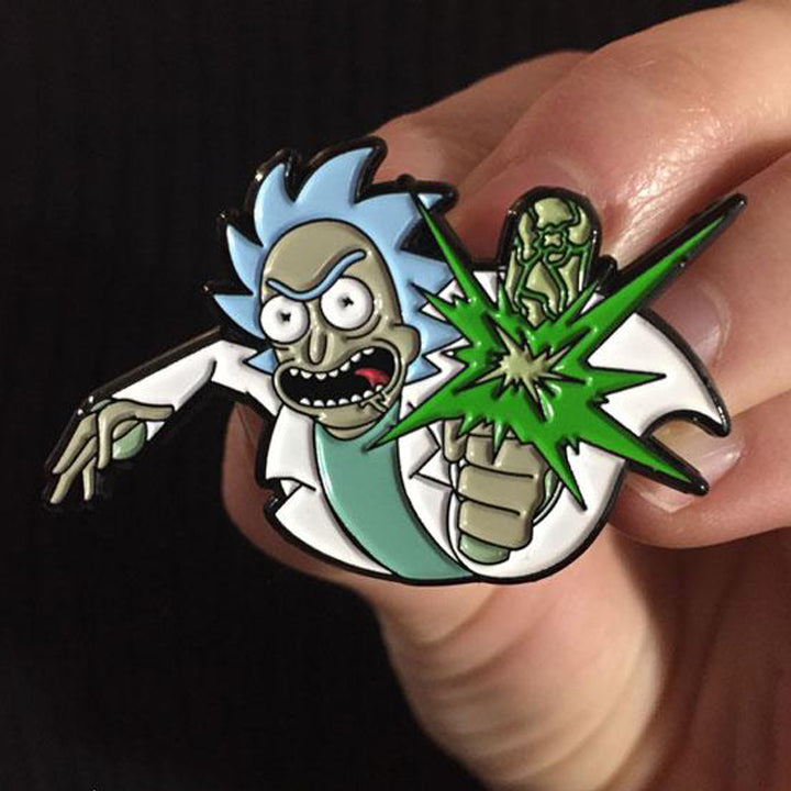 Point Blank! - Rick And Morty Enamel Pin