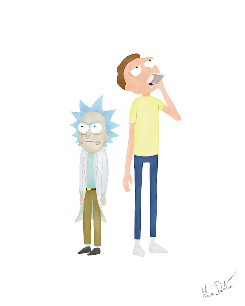 "Max Dalton - ""Rick and Morty"" - Spoke Art"