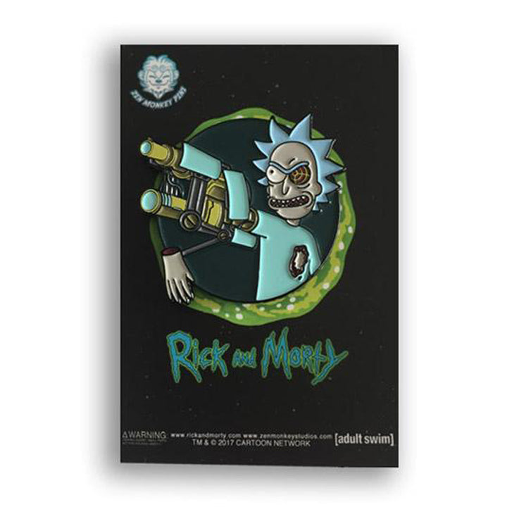 Rick's Bionic Arm - Rick and Morty Enamel Pin - Spoke Art