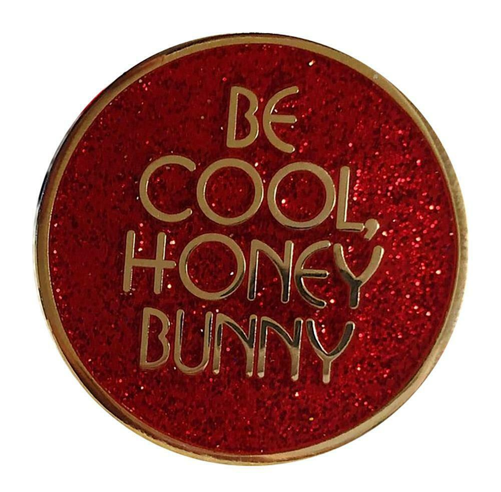Honey Bunny (Red Glitter) Pin - Spoke Art