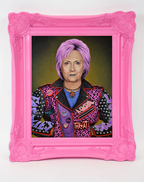 "Scott Scheidly - ""Punk Hillary"" (print) - Spoke Art"