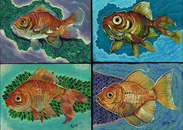 "Serge Gay Jr. - ""Gold Fish"" - Spoke Art"