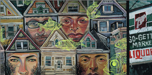 "Serge Gay Jr. - ""Houses on the Hilltop"" - Spoke Art"