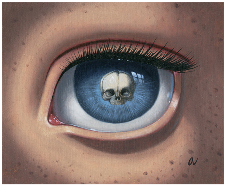 "Ana Bagayan - ""Skeleton Eye (blue)"""