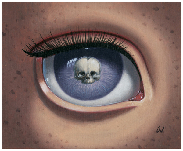 "Ana Bagayan - ""Skeleton Eye (purple)"""