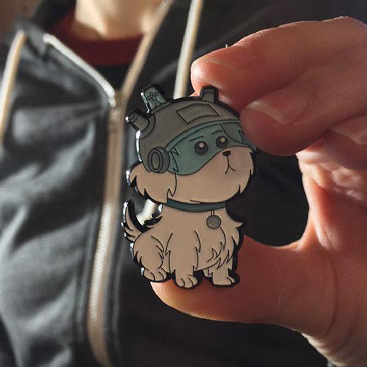 Snowball - Rick And Morty Enamel Pin - Spoke Art