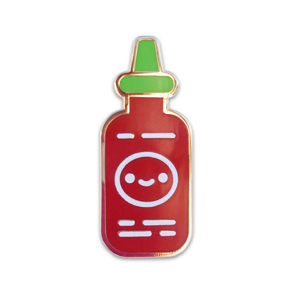 """Sriracha Friend"" Enamel Pin"
