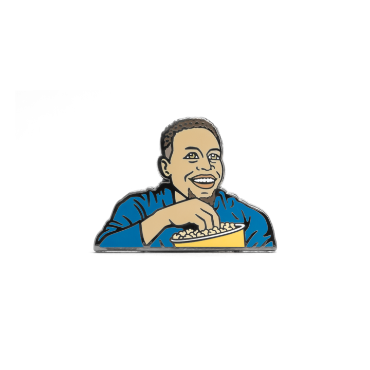 Stephen Curry Popcorn Enamel Pin