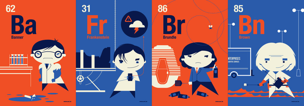 "Tom Whalen - ""Periodic Table Flash Cards"" - Spoke Art"