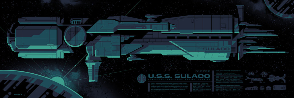 "Tom Whalen - ""Sulaco Spec Sheet"" - Spoke Art"