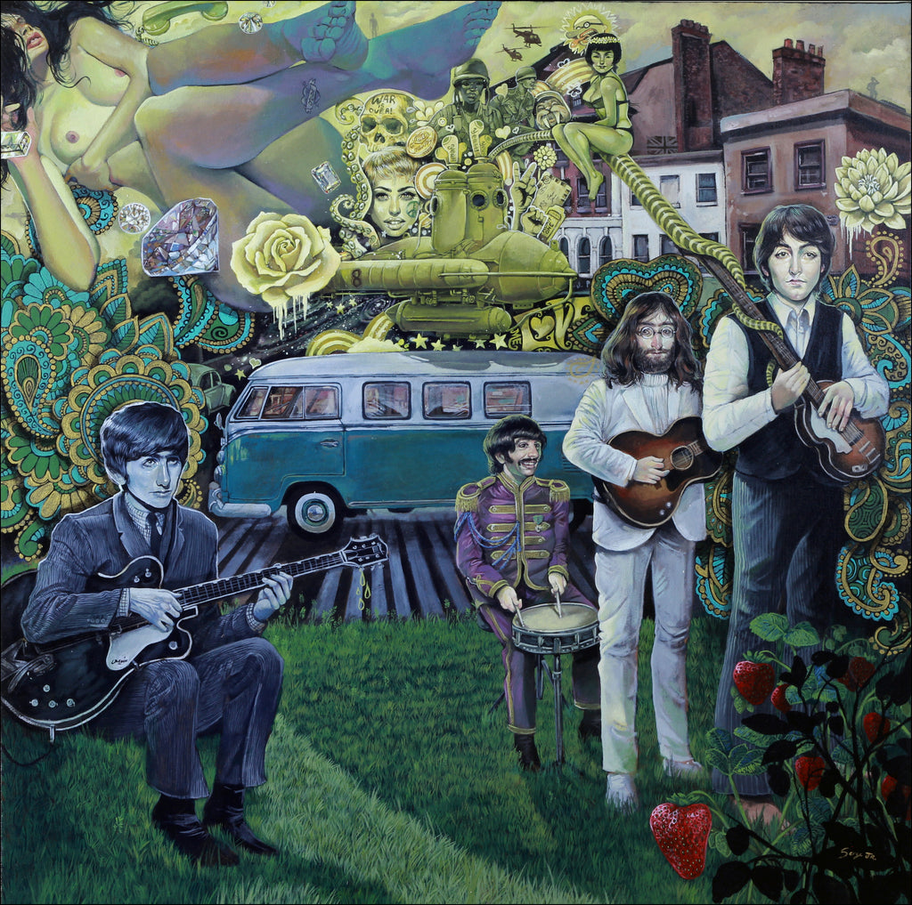"""The Beatles, Mystery of Love"" - Spoke Art"