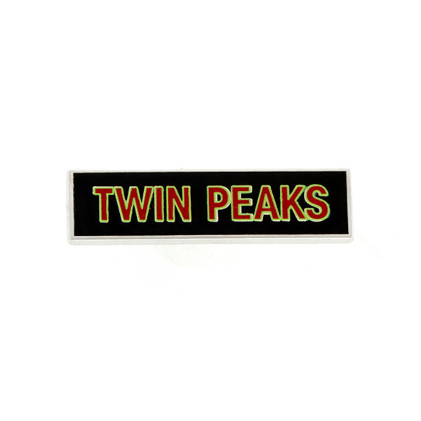 Twin Peaks: Nameplate Enamel Pin - Spoke Art