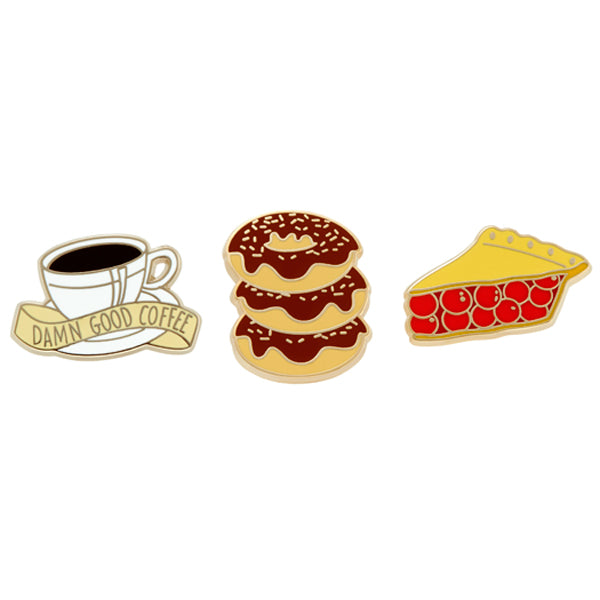 Twin Peaks: Collector Set of 3 Enamel Pins - Spoke Art