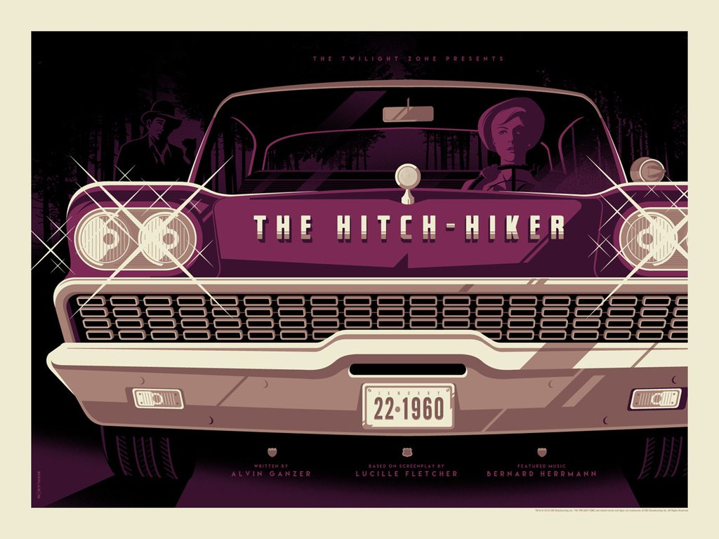"Tom Whalen - ""The Hitchhiker"" - The Twilight Zone - Spoke Art"