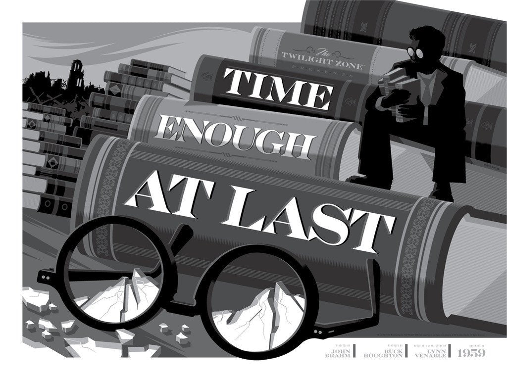 "Tom Whalen - ""Time Enough At Last"" - The Twilight Zone - Spoke Art"