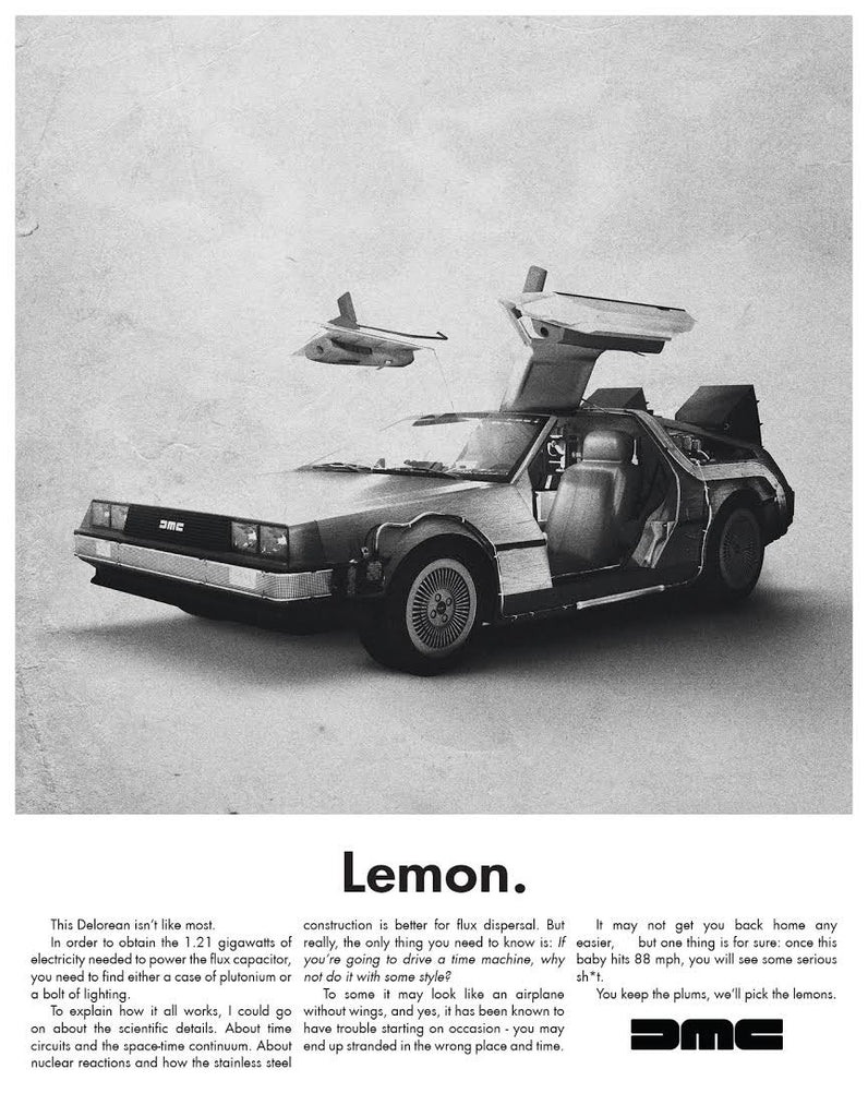 """Lemon - Delorean"" - Spoke Art"