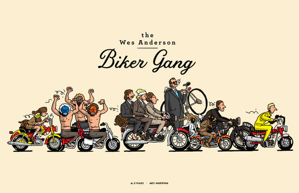 "Nick Stokes - ""The Wes Anderson Biker Gang"""