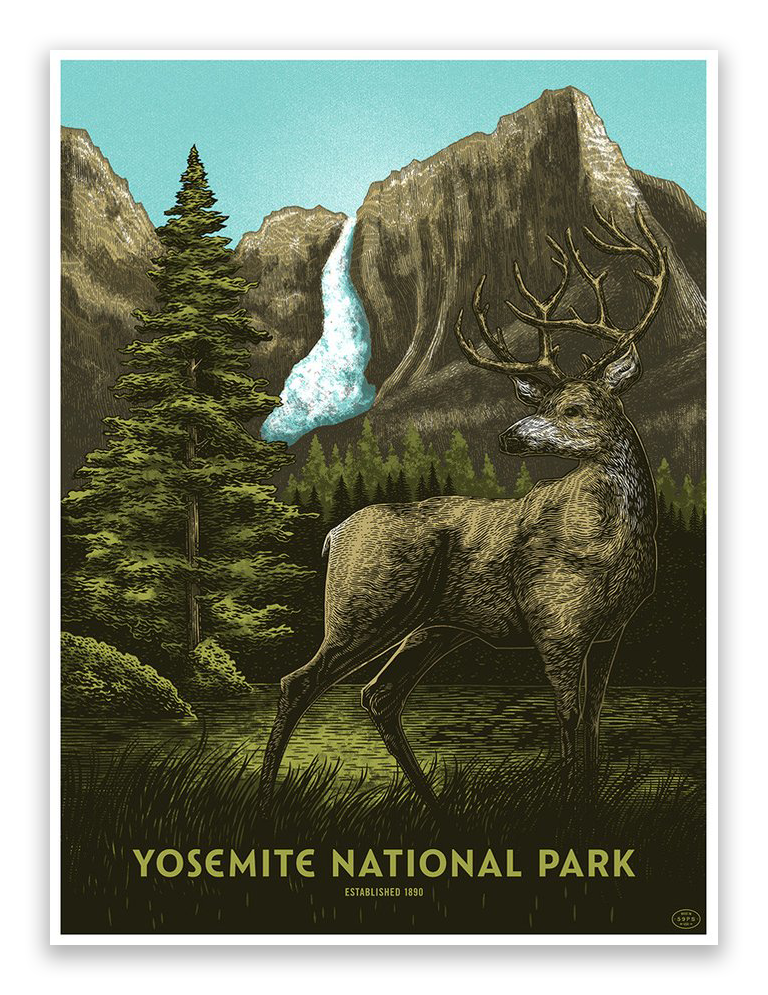 "Bungaloo - ""Yosemite National Park"" - Spoke Art"