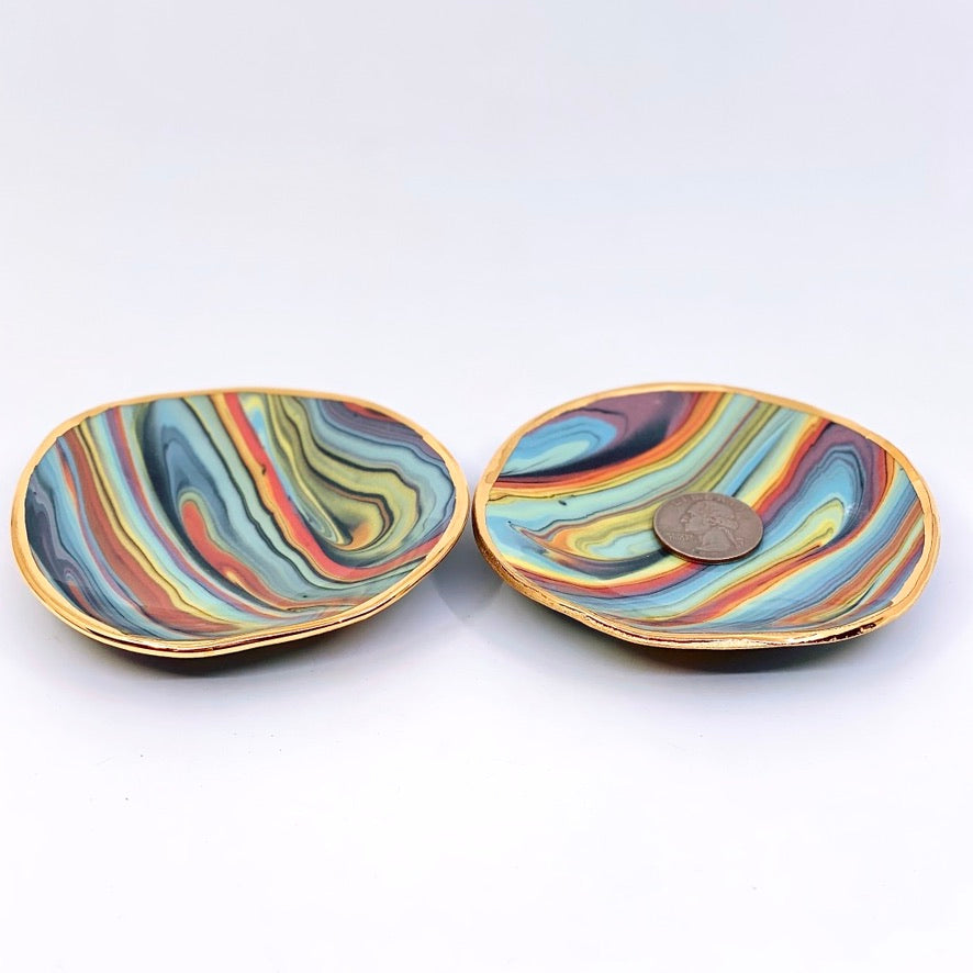 Dark Rainbow Jewelry Dish (2 available)