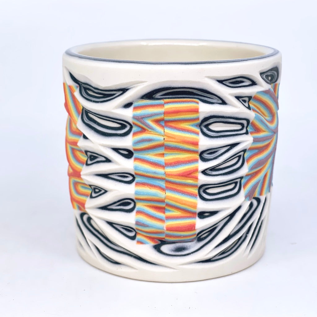 Hybrid Rainbow #2 - Intricate Carved Tumbler