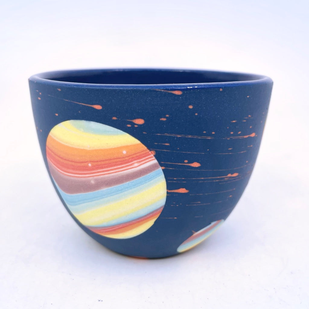*Preorder* 2021 Cobalt Rainbow Galaxy Teacup **EARTH DAY EXCLUSIVE**