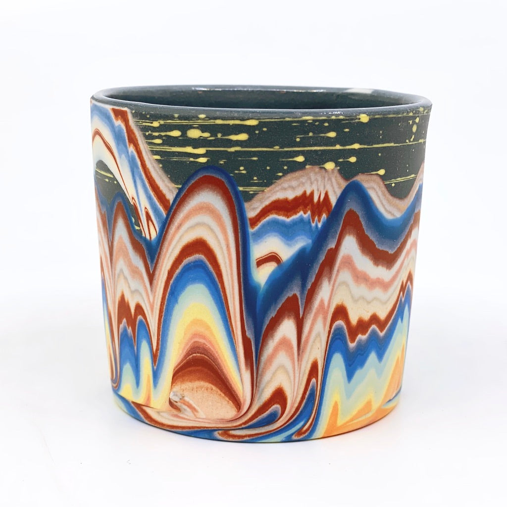 Tumbler #8 Rainbow Cliffs With Stars One-Off - Black interior