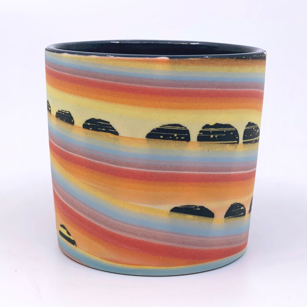 Rainbow Space Arches Tumbler **Ready to ship** (also available via preorder with Gold Luster Rim Option)