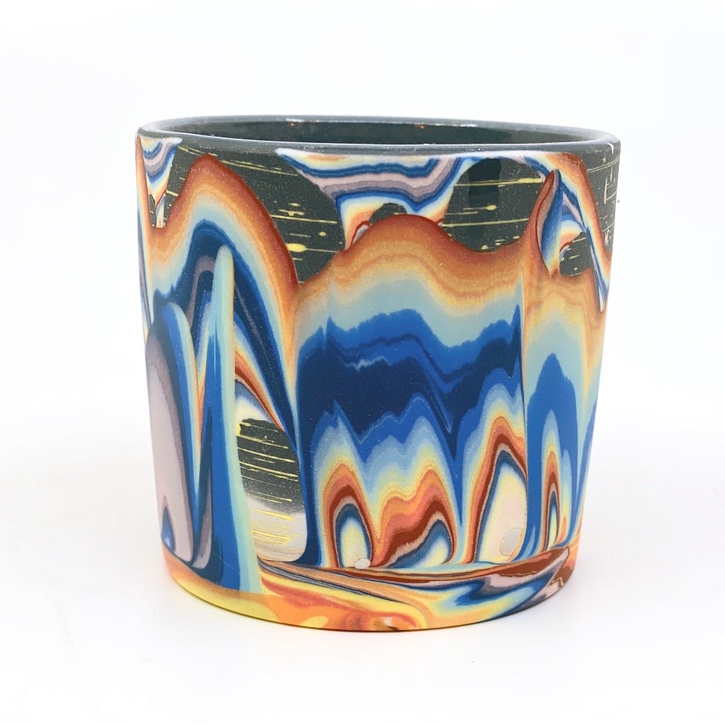 Tumbler #6 Rainbow Cliffs With Stars One-Off - Black interior