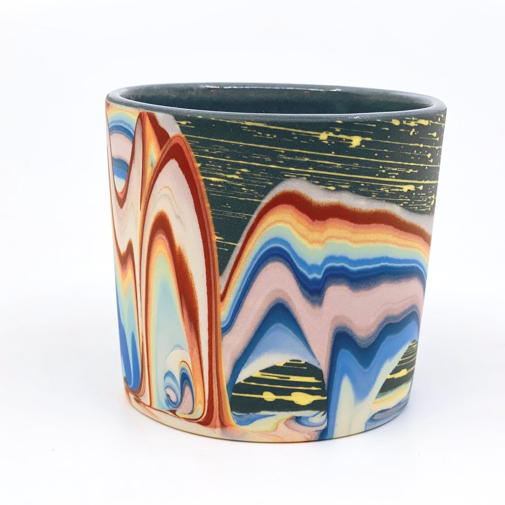 Tumbler #4 Rainbow Cliffs With Stars and Moon One-Off - Black interior