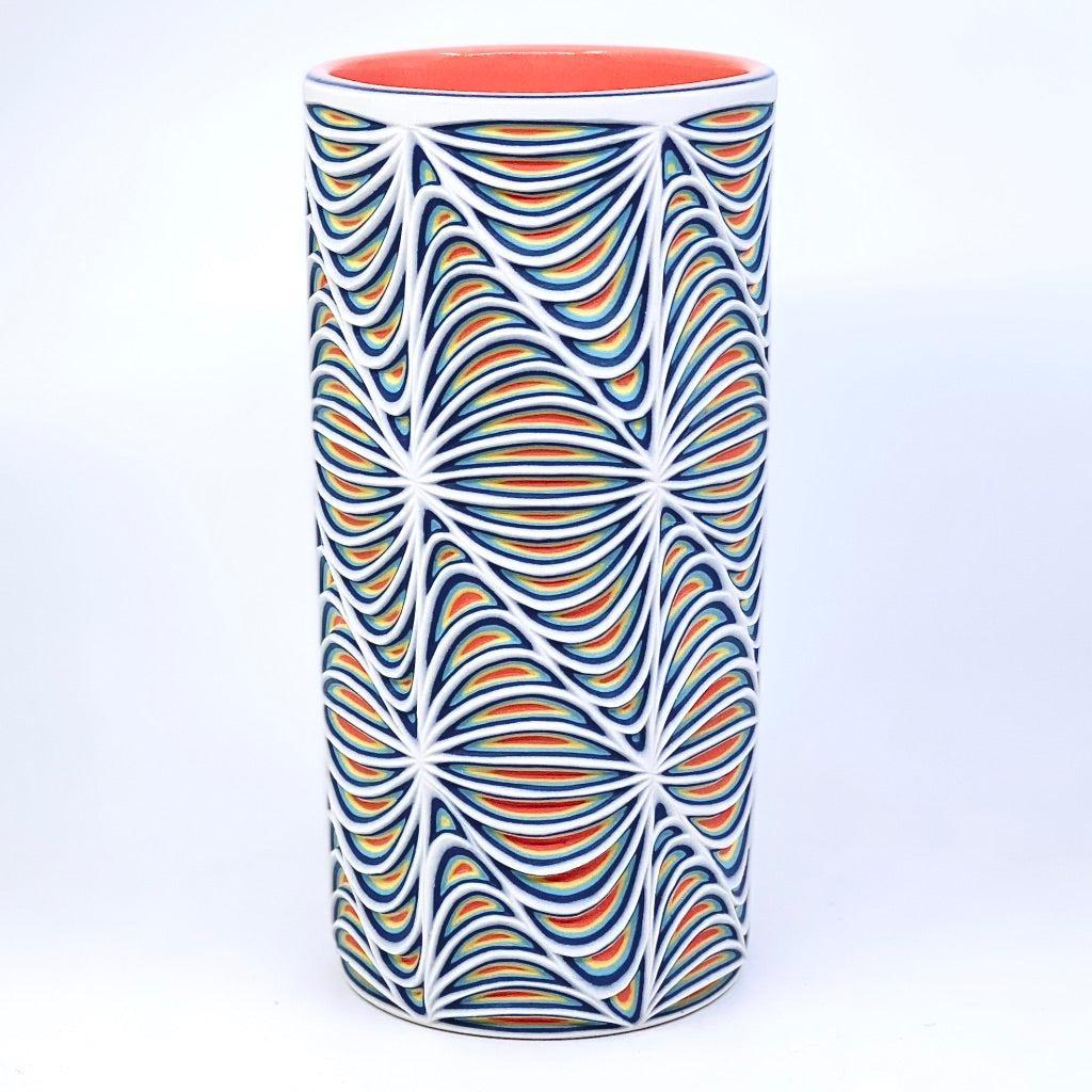 *preorder* Sound Wave Carved tumbler