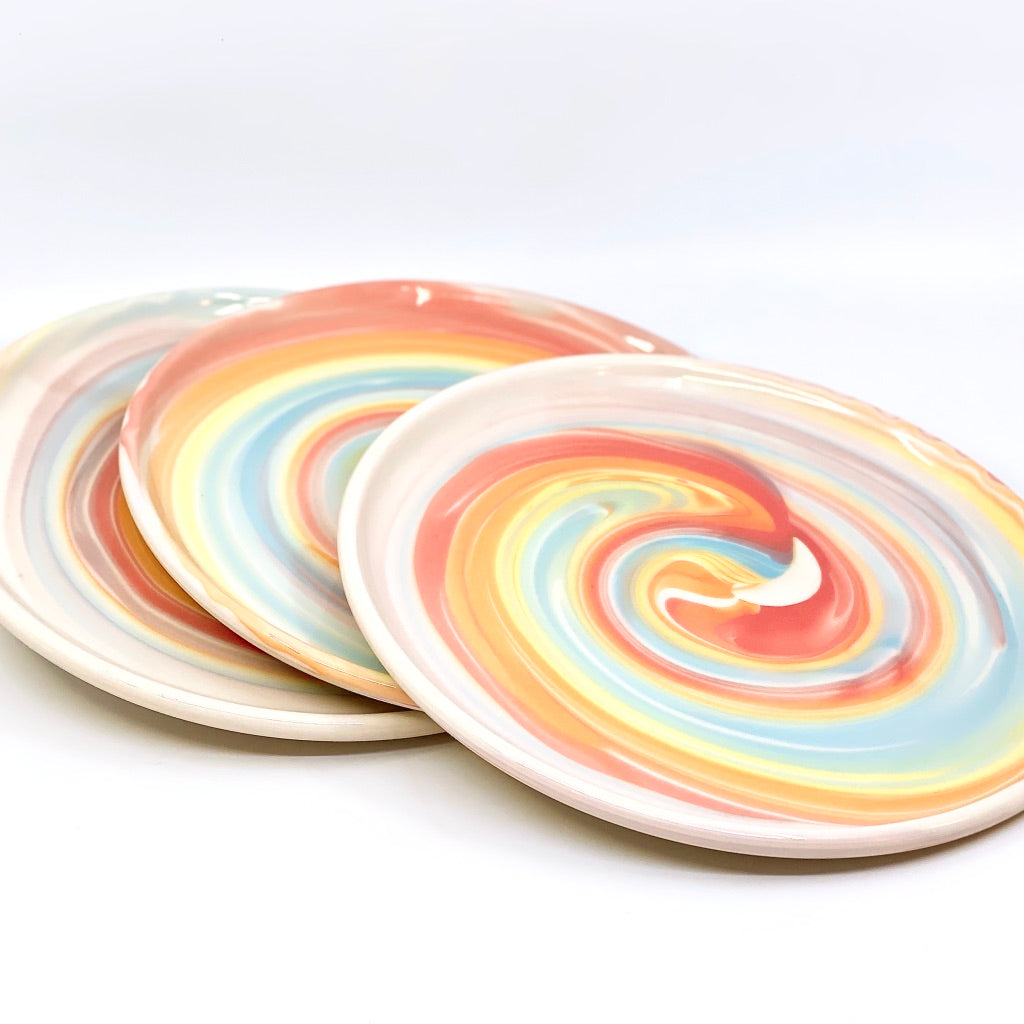 "**Preorder** White Rainbow Swirl ""Series"" (Estimated shipping July-August)"