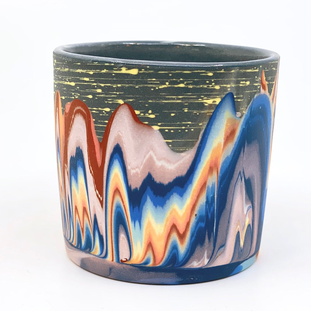 Tumbler #5 Rainbow Cliffs With Stars and Moon One-Off - Black interior