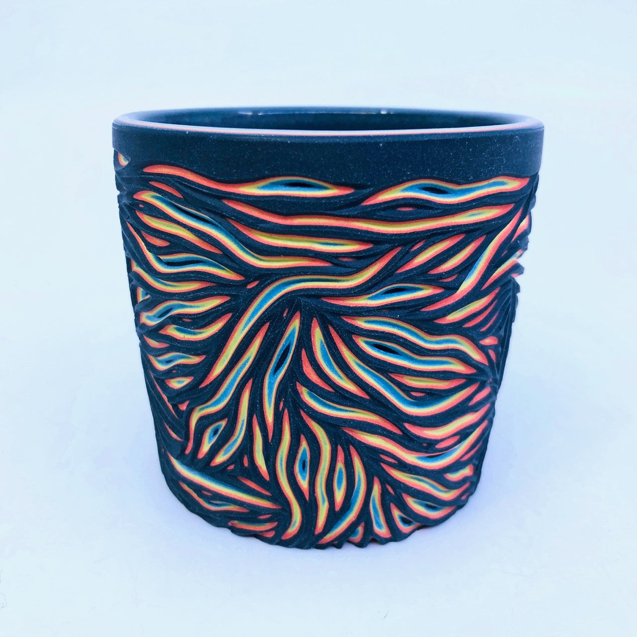 Intricate Black to Neon 5 Layer Tumbler