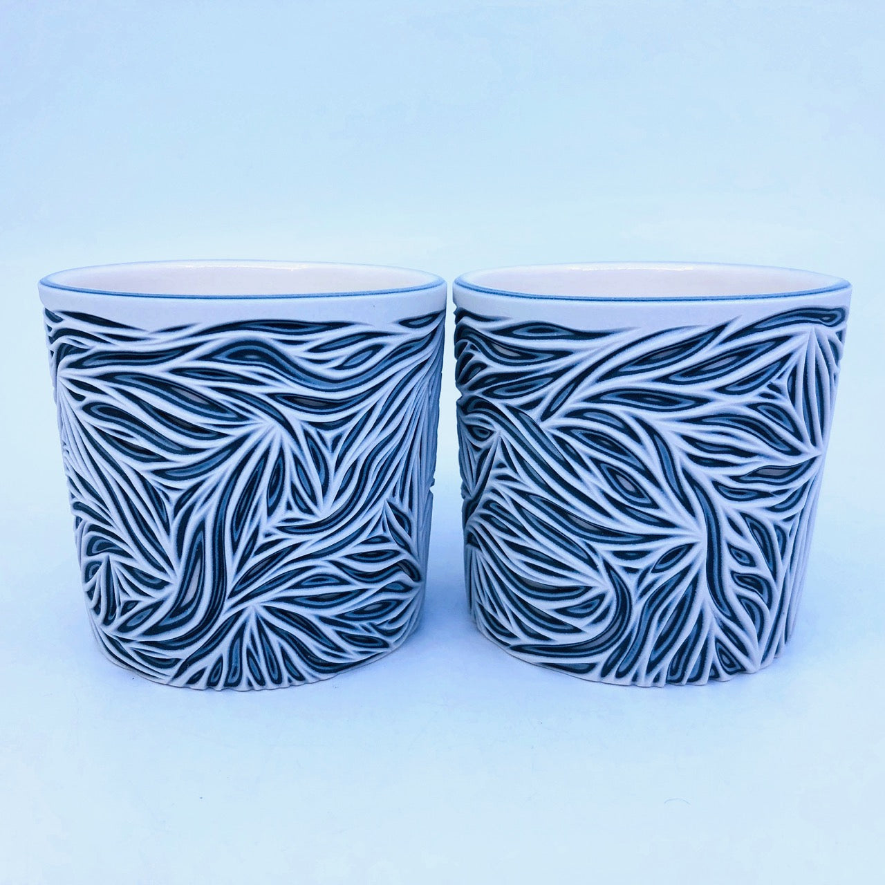 Intricate White and Black 5 Layer Tumbler