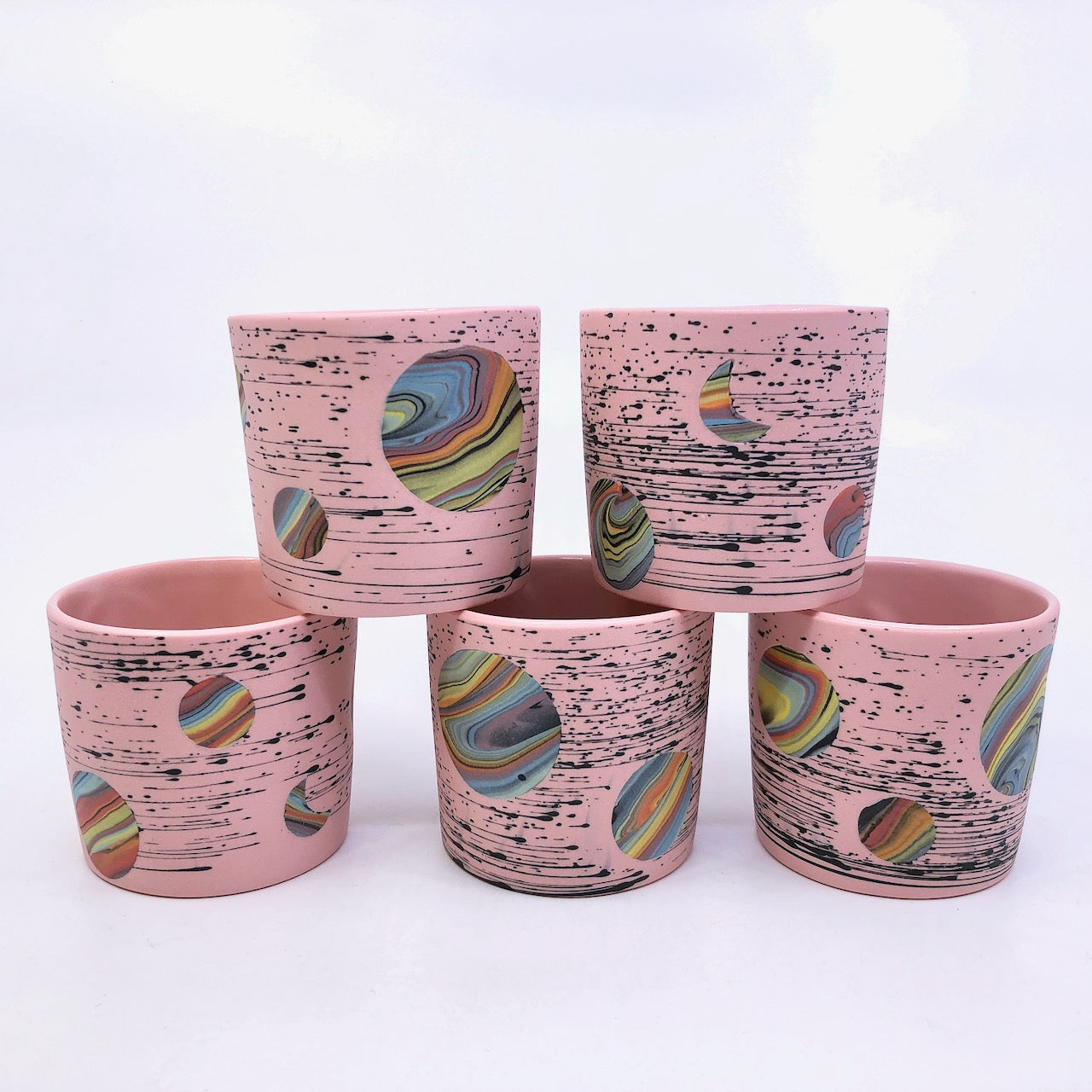 Pink Bright-Space Rainbow Galaxy Tumblers **EARTH DAY EXCLUSIVE** (50% to Charity)