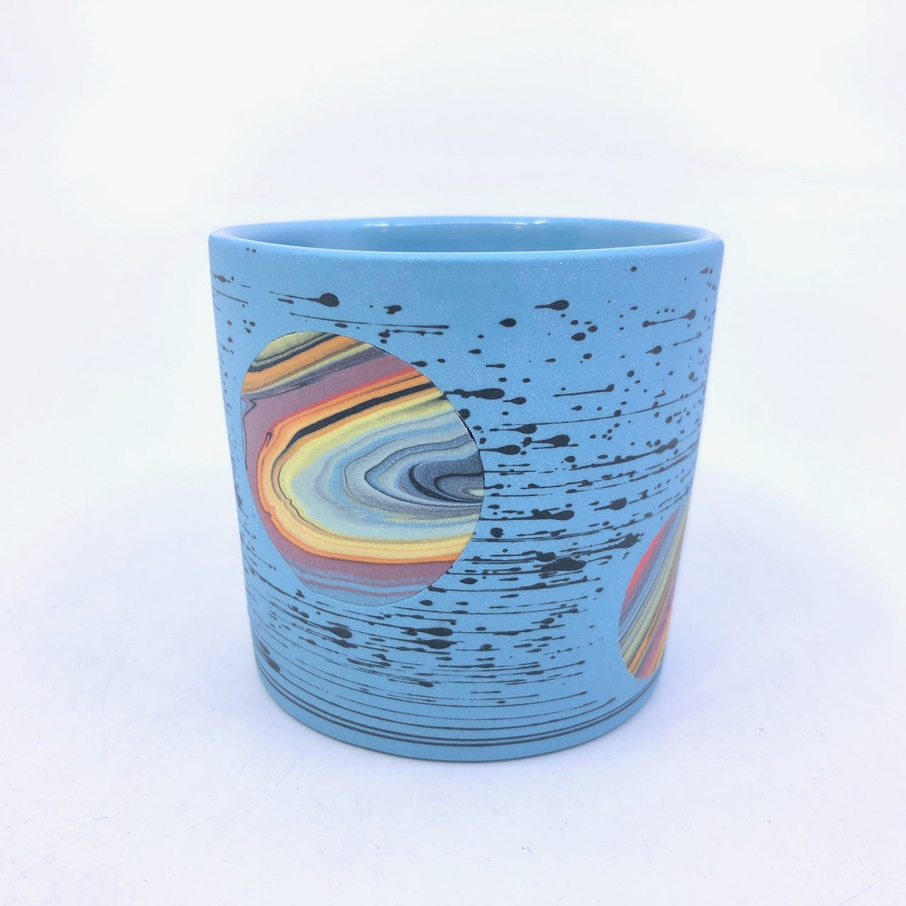 Turquoise Bright-Space Rainbow Galaxy Tumbler