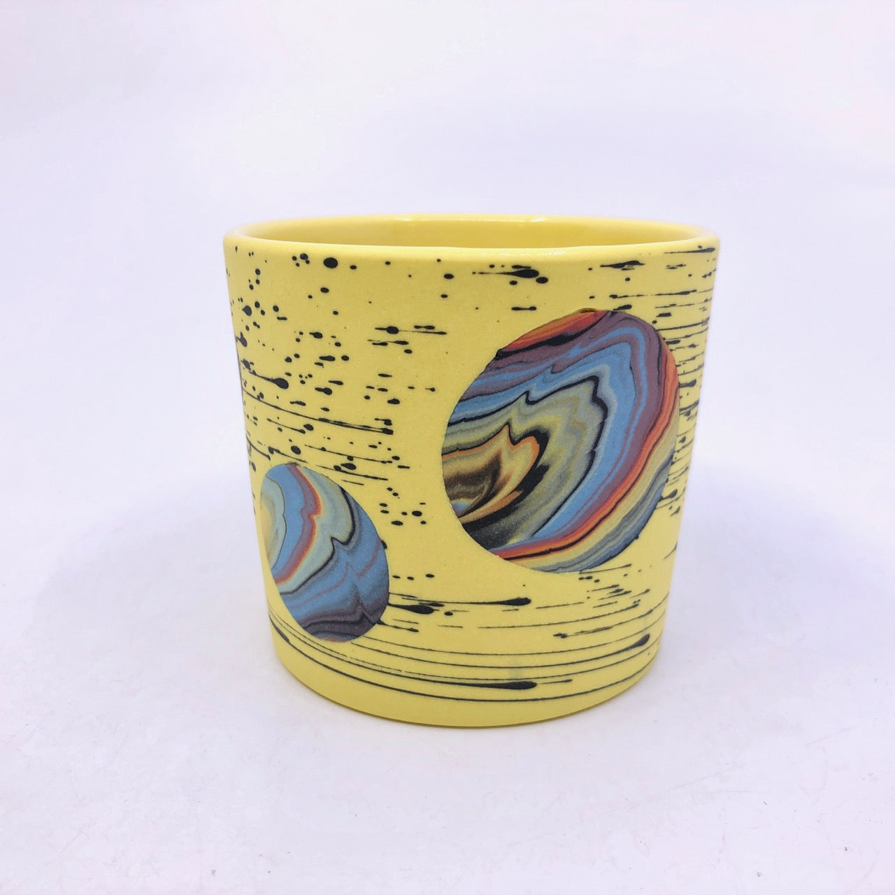 Yellow Bright-Space Rainbow Galaxy Tumblers **EARTH DAY EXCLUSIVE** (50% to Charity)