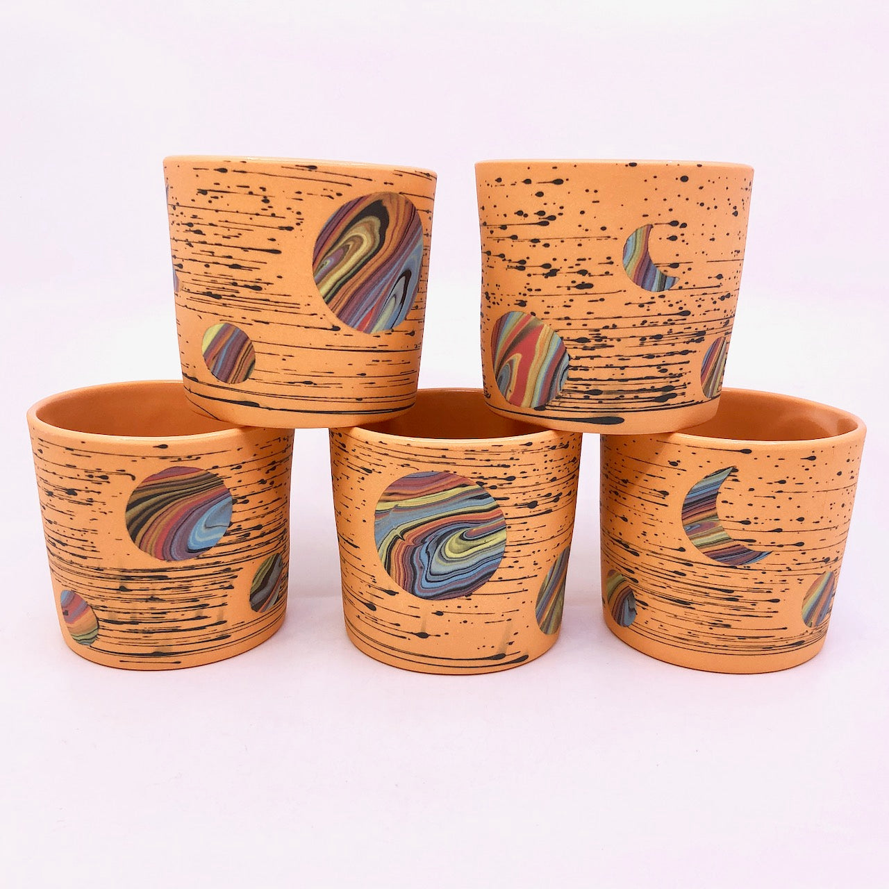 Light Orange Bright-Space Rainbow Galaxy Tumblers **EARTH DAY EXCLUSIVE** (50% to Charity)