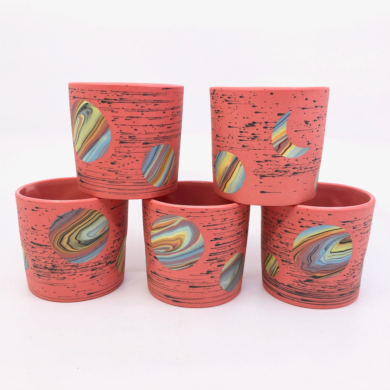 Red Bright-Space Rainbow Galaxy Tumblers **EARTH DAY EXCLUSIVE** (50% to Charity)