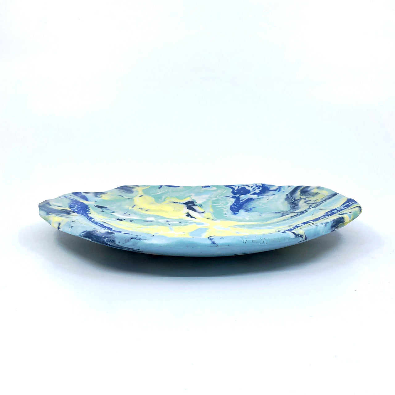 Tropical Ocean Marbled Medium Display Platter