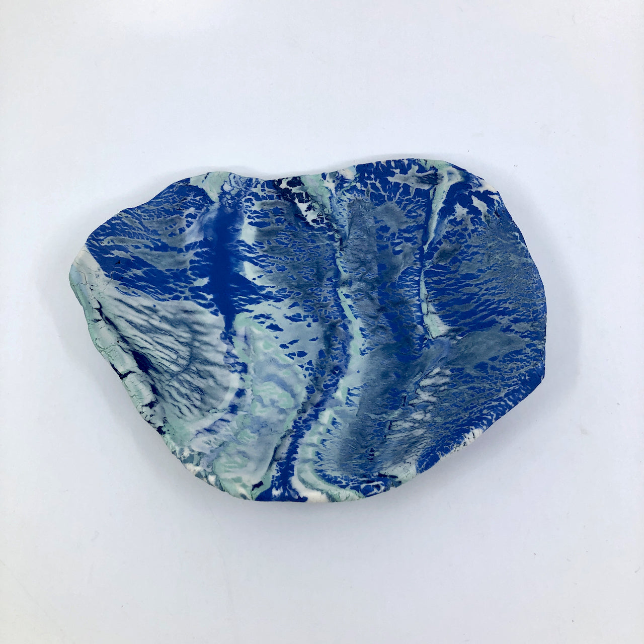 Royal Ocean Marbled Medium Display Platter