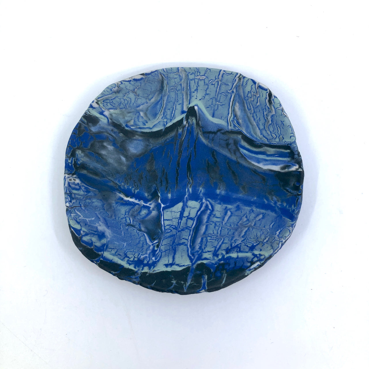 Dark Ocean Marbled Medium Display Platter
