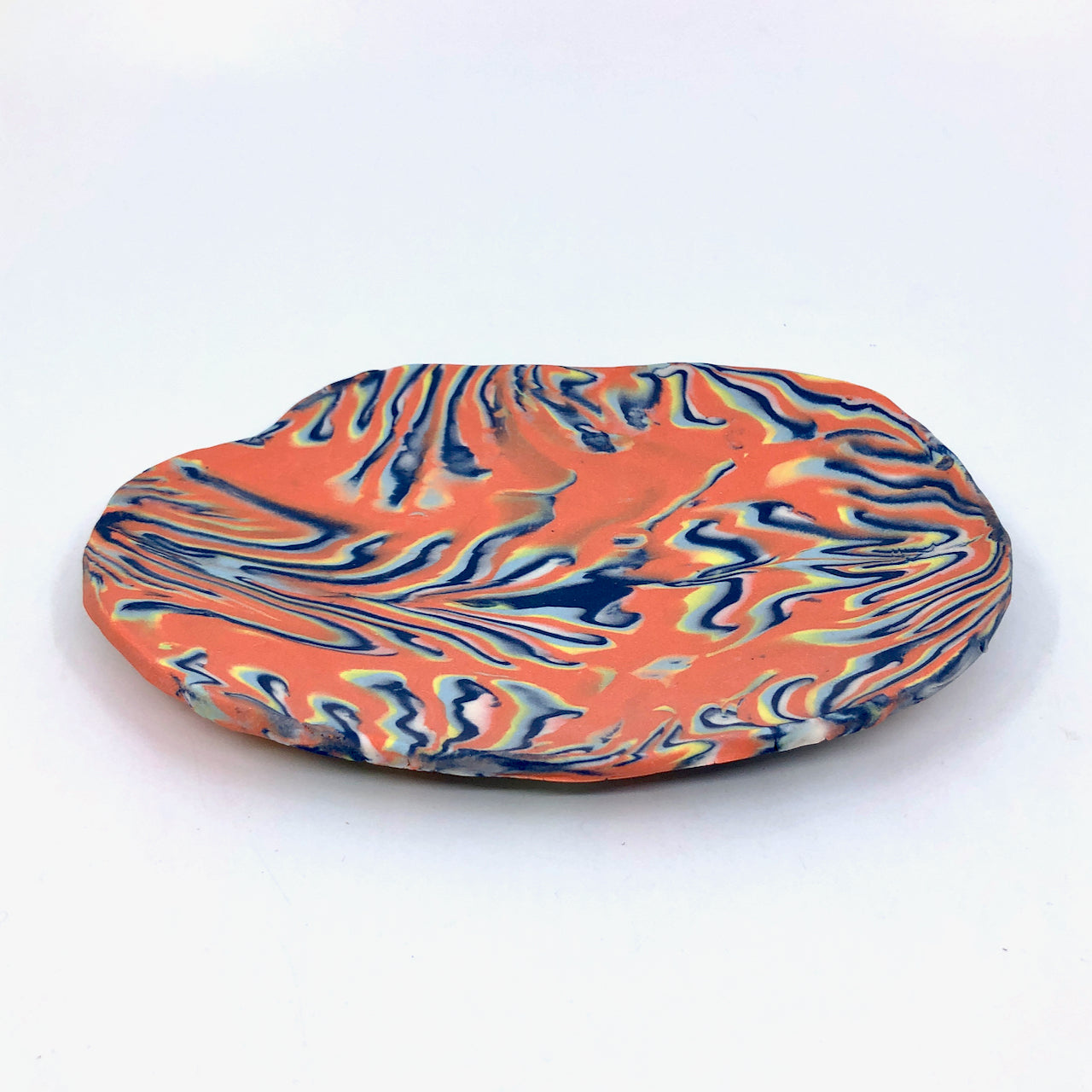 Coral & Royal Marbled Medium Display Platter