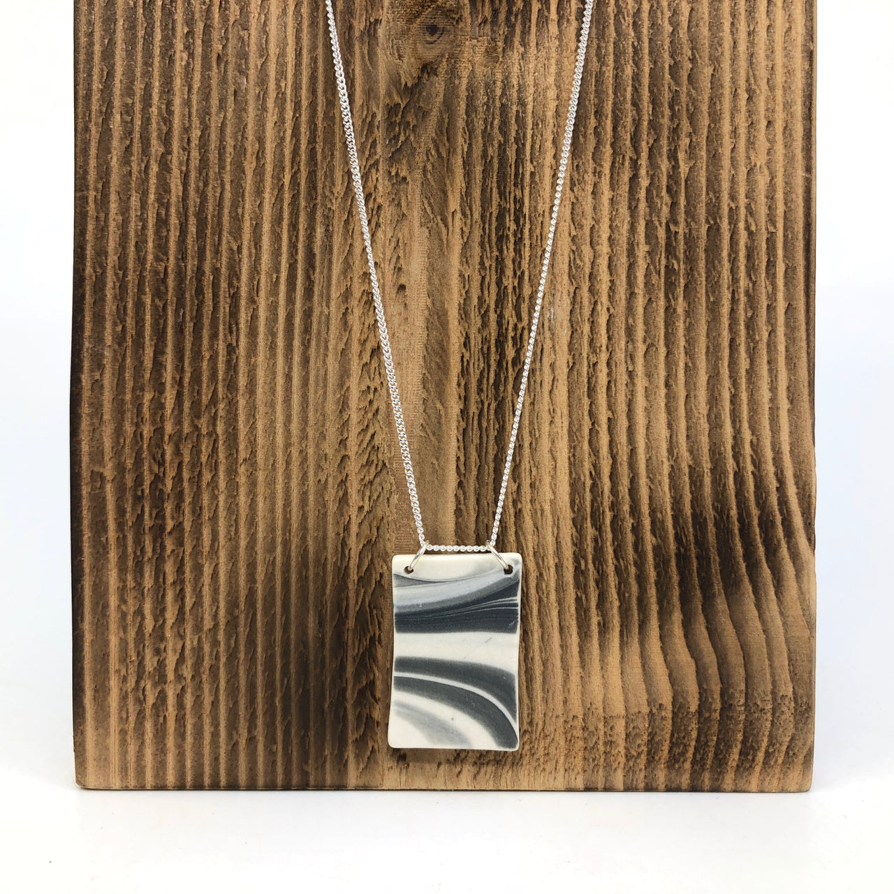 Storm Strata Rectangle Necklace
