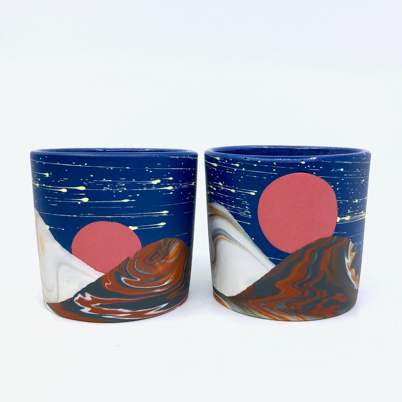 Mars Night Mountains Tumbler