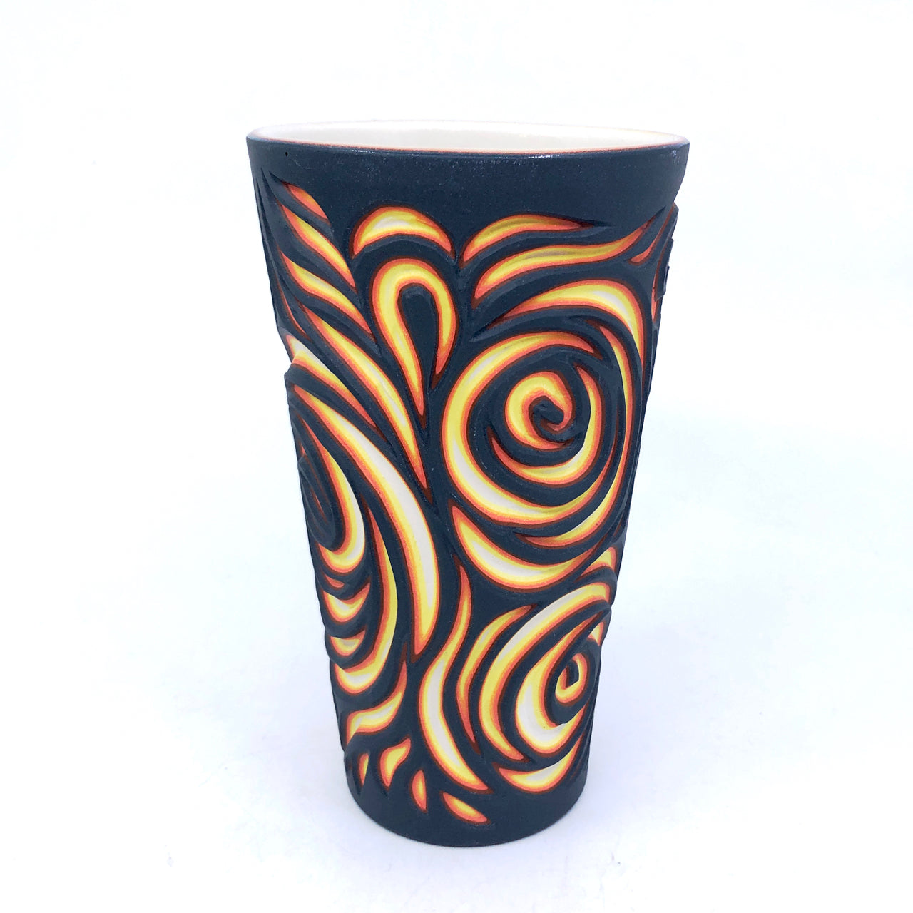 Lava Swirls Carved Pint