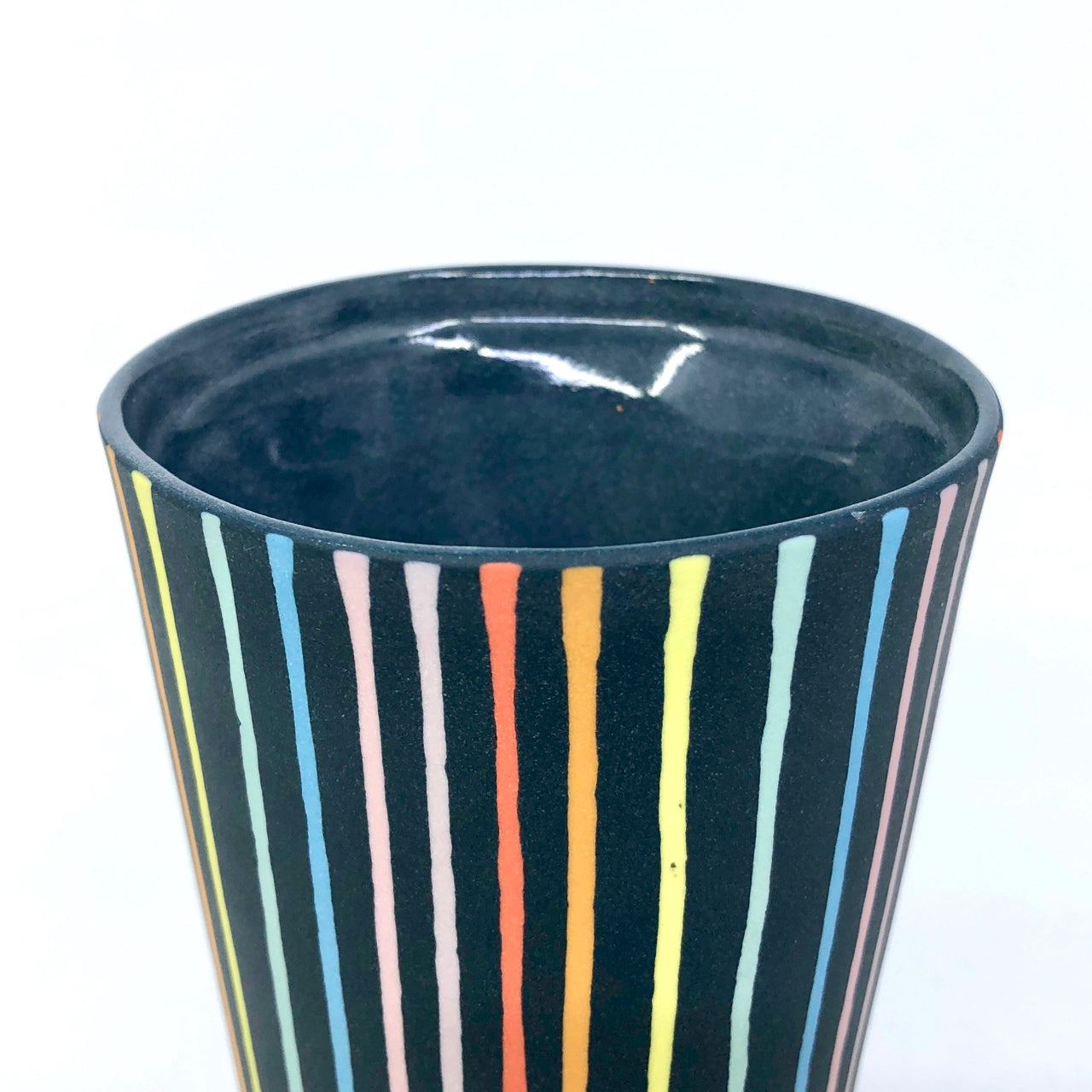 Black Rainbow Drip Insulated Mug